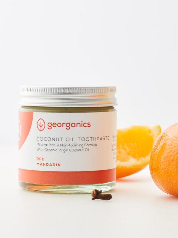Dentífrico natural con aceite de coco y mandarina