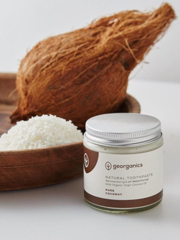 Dentífrico natural con aceite de coco