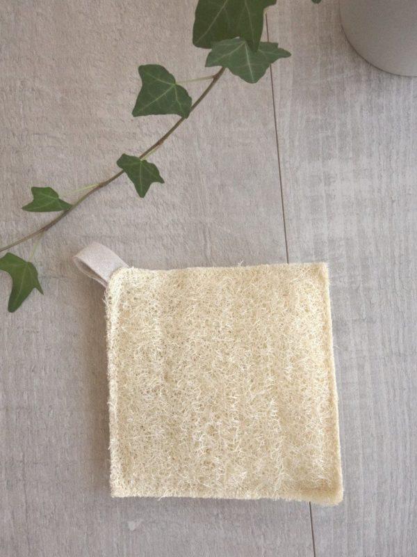 Esponja de luffa cuadrada