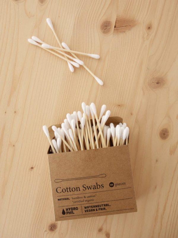 Bastoncillos algodon y bambu Hydrophil