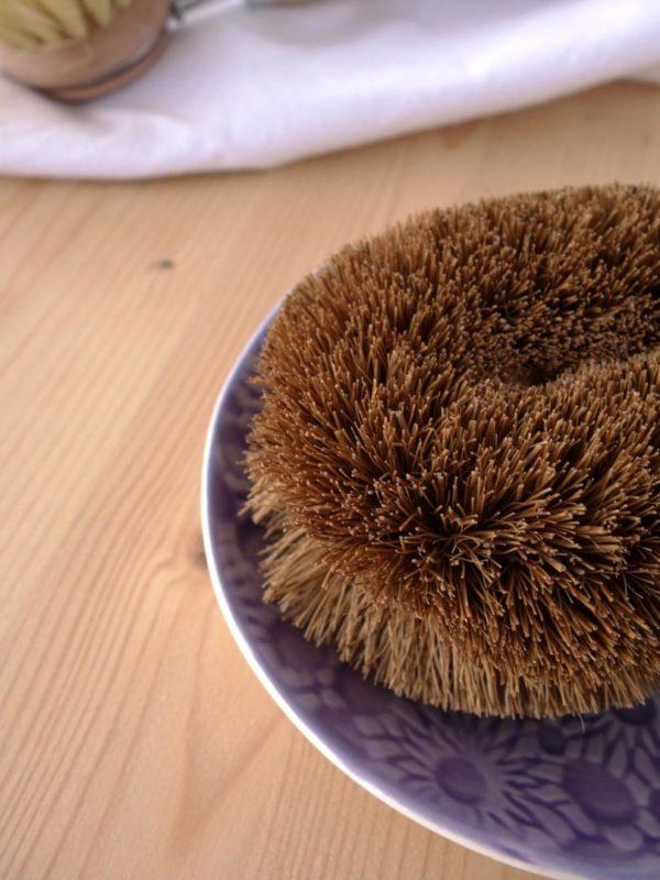 Cepillo de fibras de coco