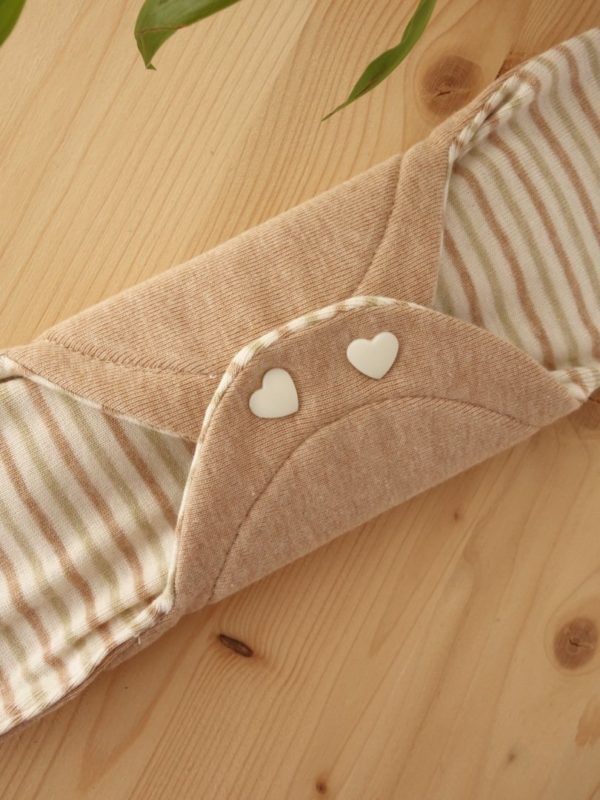 Compresa Grande de tela de algodon ecologico