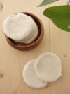 Disco desmaquillante reutilizable algodon organico pequeño