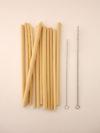 Pajitas reutilizables bambu