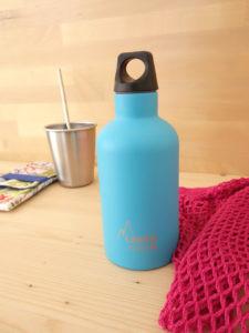 Botella termica acero inox Laken Azul claro
