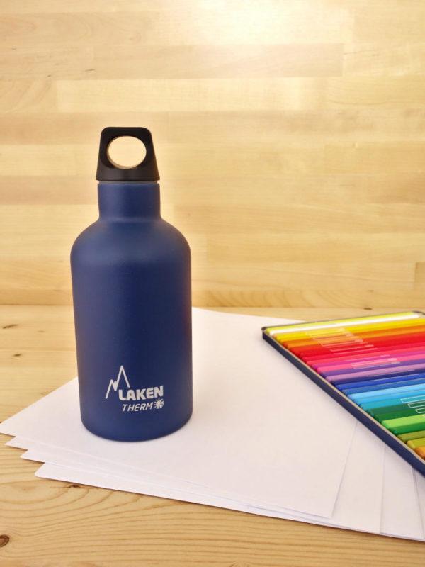 Botella termica acero inox Laken Azul oscuro