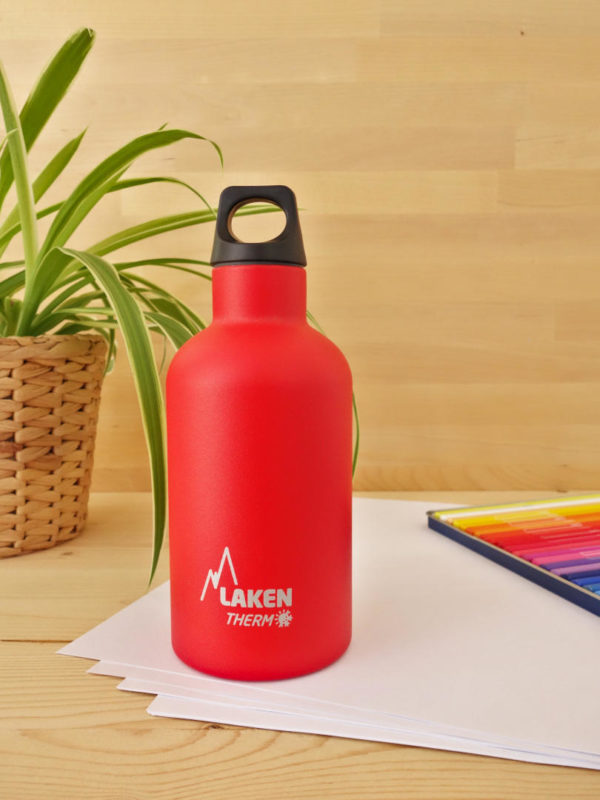 Botella termica acero inox Laken roja