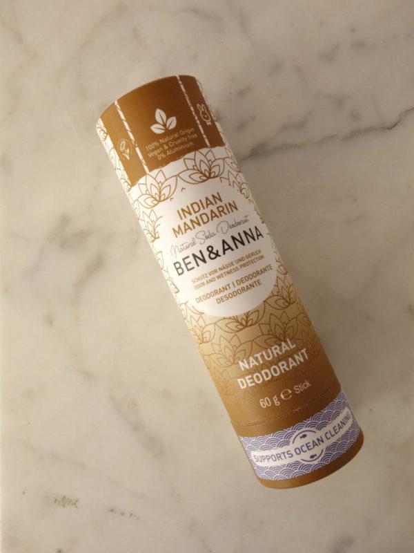 Desodorante natural zero waste Indian Mandarin Benn Anna