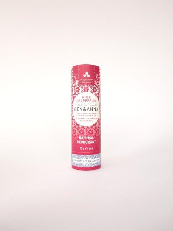 Desodorante natural zero waste Pink Grapefruit Benn Anna