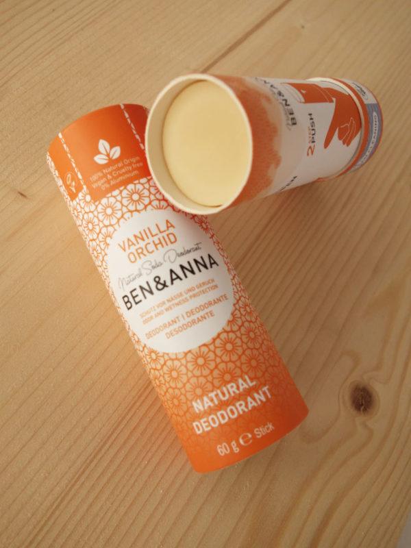 Desodorante natural zero waste Vanilla Orchid Benn Anna