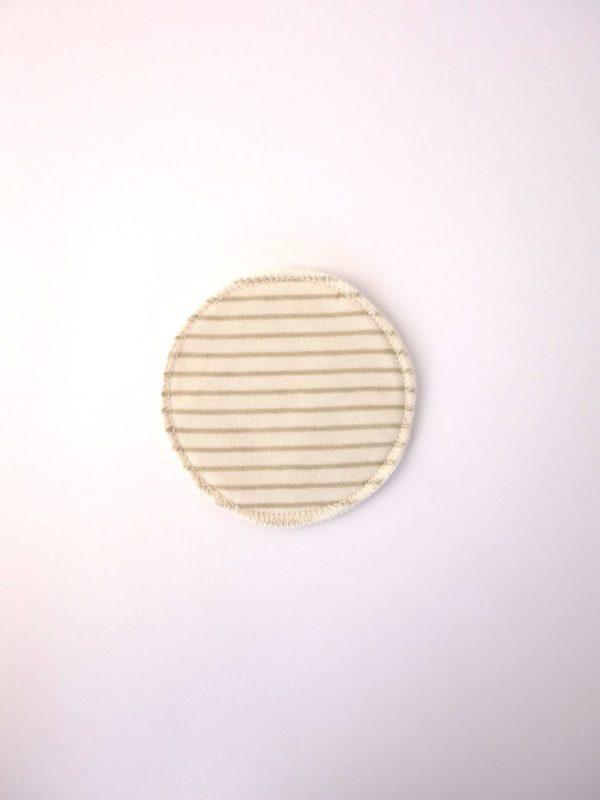 Disco de lactancia lavable de tela algodon ecologico