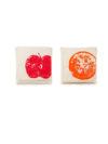 Bolsas portabocadillos Manzana y naranja Fluf
