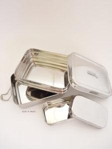 Fiambrera doble piso con mini recipiente Panna