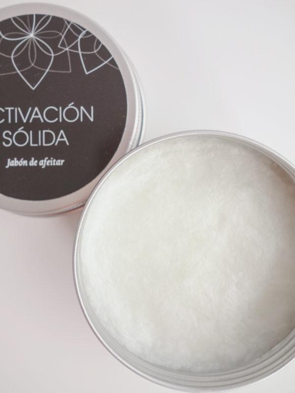 Jabon afeitado activacion solida