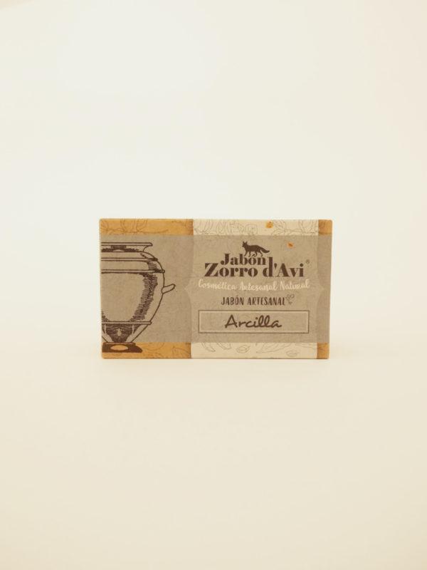 Jabon solido arcilla Zorro d'Avi