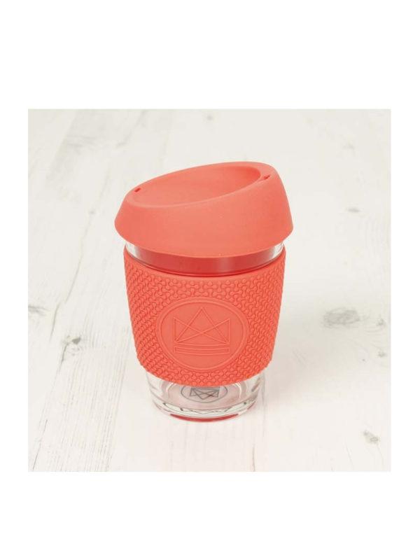 Taza reutilizable para café de cristal Coral Neon Kactus