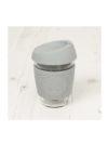 Taza reutilizable cristal Gris 2