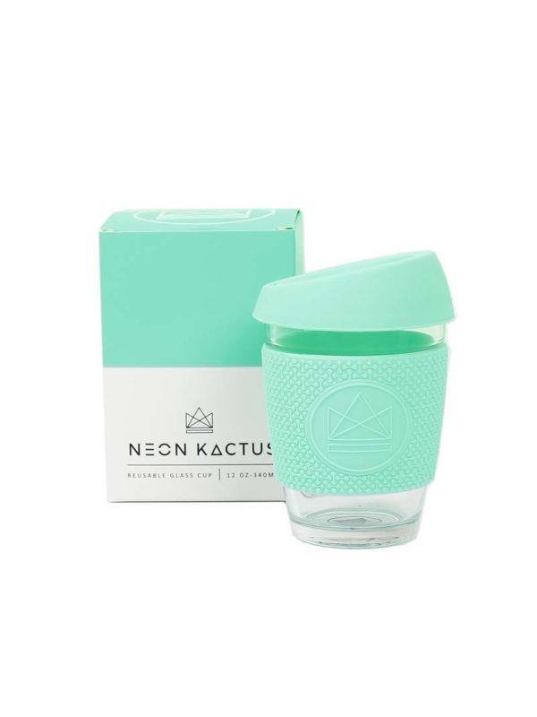 Taza reutilizable para café de cristal Neon Kactus