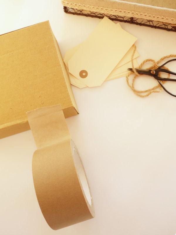 Cinta adhesiva de papel kraft y caucho natural