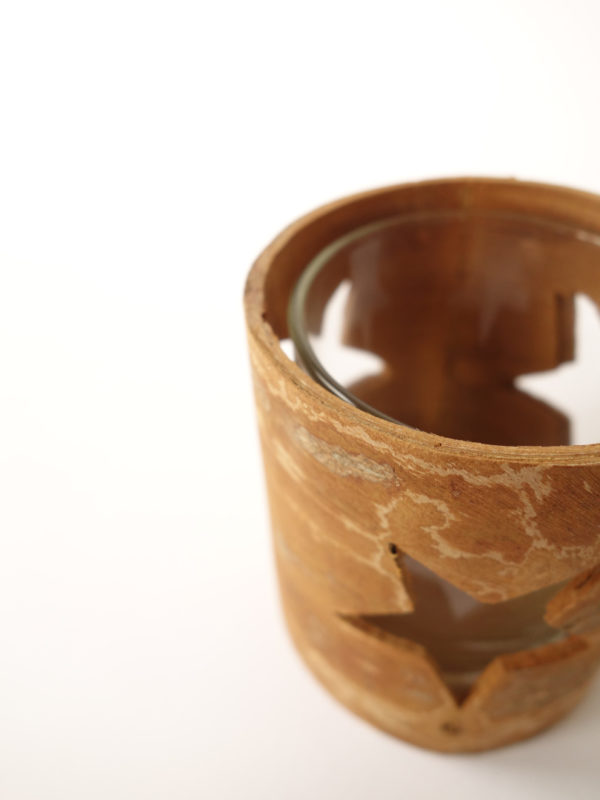Portavelas de canela cilindro