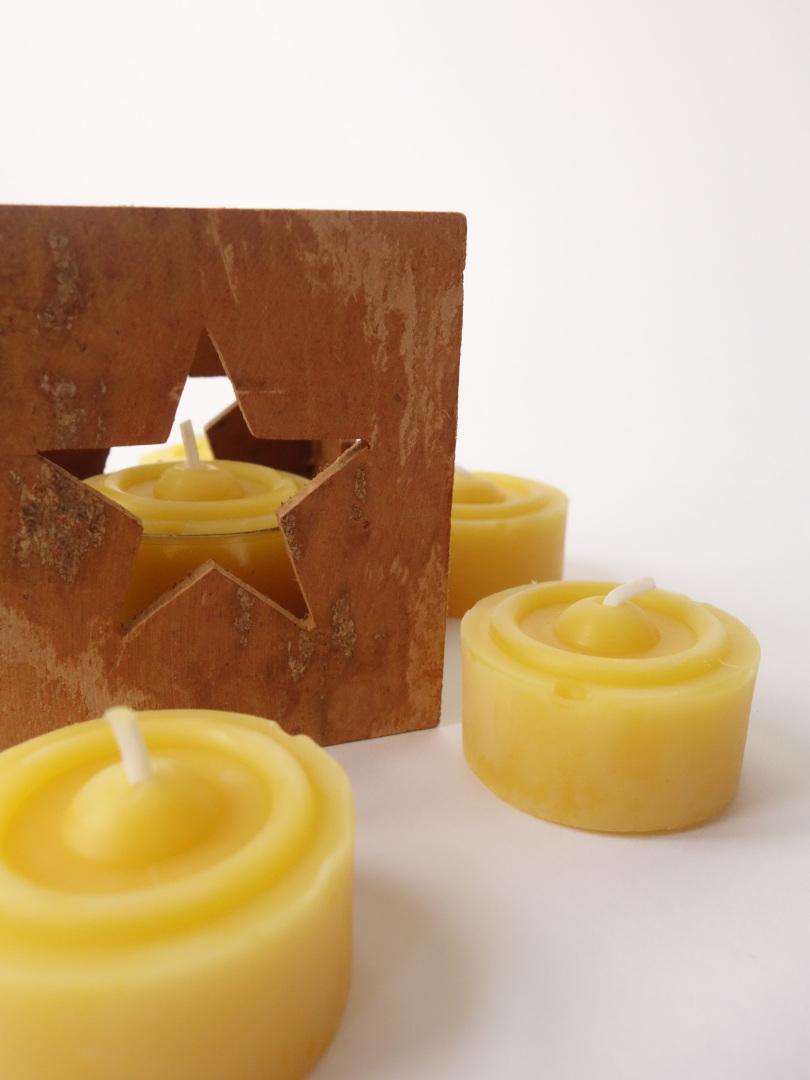 2 piezas hecho a mano Natural Cera de abejas Velas