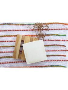 Jabonera madera natural