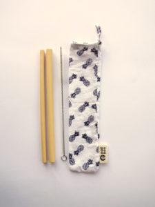 Pack pajitas bambu