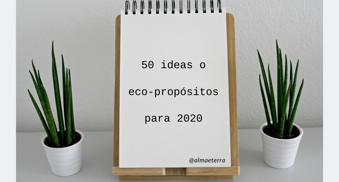 50 ideas o eco-propósitos para 2020