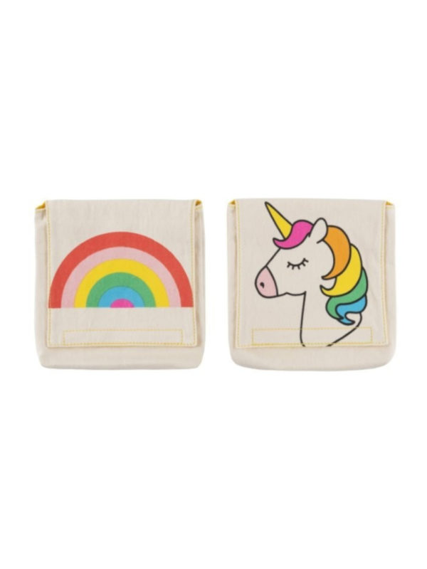 Bolsas portabocadillos Arcoiris y Unicornio Fluf