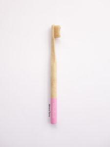 Cepillo de dientes de bambu Naturbrush rosa