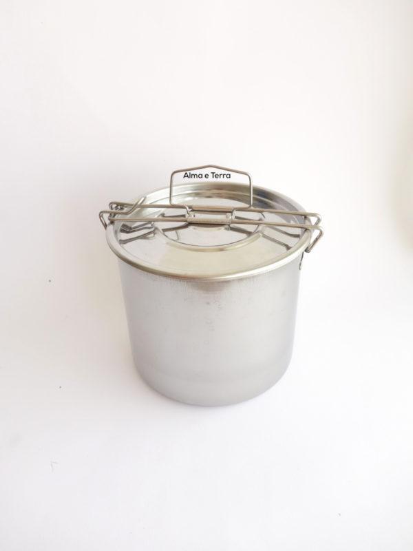 Fiambrera redonda lunch box 2 compartimentos