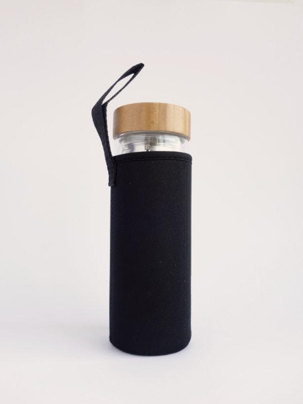 Botella infusionador con funda de neopreno